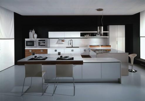 意大利现代风格厨房设计_混搭装修效果图_八六(中国)