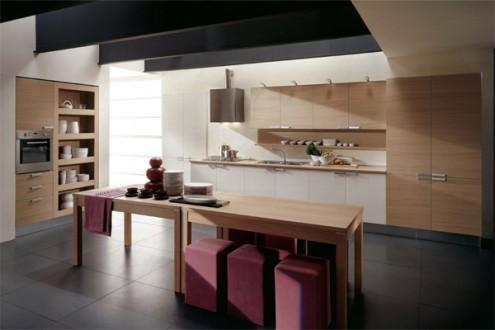 意大利现代风格厨房设计-厨房装修效果图-八六(中国)