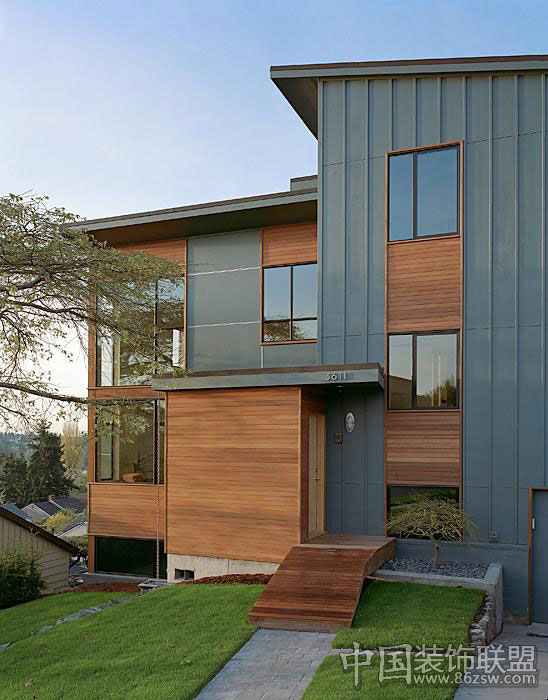 错层式别墅室内设计效果图 中式风格装修效果图 八六装饰