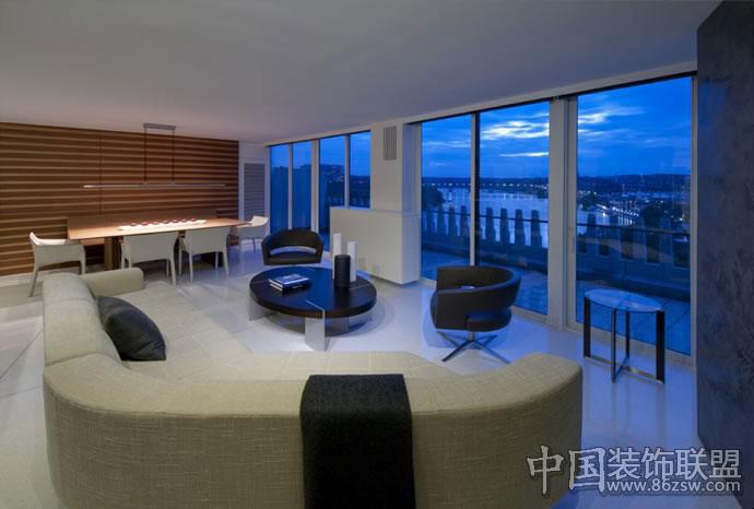 华盛顿watergate公寓室内设计现代卫生间装修图片