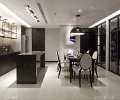 现代极简家居:餐厅+厨房设计
