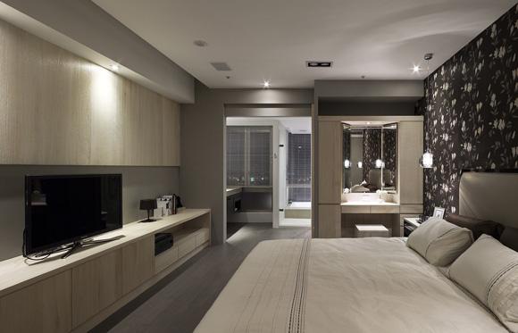现代极简家居:卧室设计现代卧室装修图片
