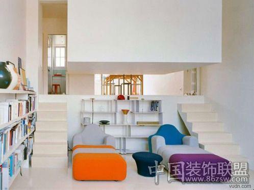 超人气法国创意公寓设计-客厅装修图片