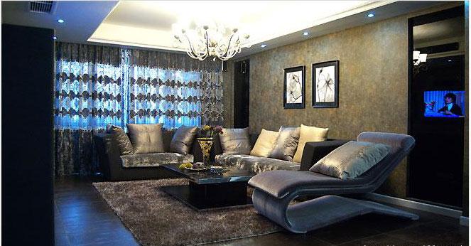 时尚典雅室内设计-客厅装修图片
