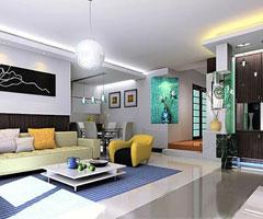 绝美现代简约客厅装修效果图