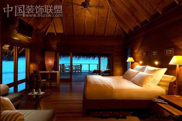 海边别墅 豪华舒适的生活空间古典卧室装修图片