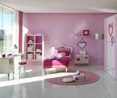 紫色与粉红搭配设计 营造温馨气氛的公主房
