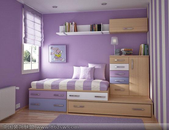 营造温馨气氛的公主房-儿童房装修图片
