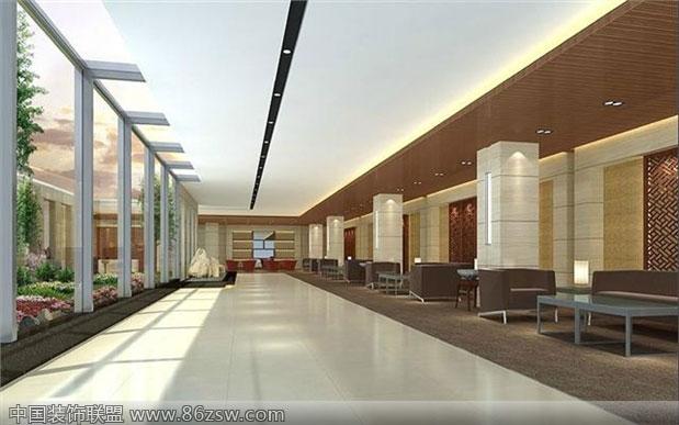 工装大厅效果图-单张展示-办公室装修效果图-八六()