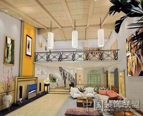 客厅背景墙风格集锦-现代风格装修效果图-八六装饰网