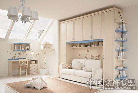 清新脱俗雅致的儿童房设计 儿童房装修效果图 -清新脱俗雅致的儿童房