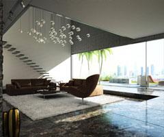 80后时尚现代客厅装修设计效果图