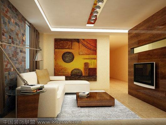 80后时尚现代客厅装修设计效果图 客厅装修效果图 八六装饰