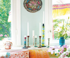 充滿美丽色彩的家居生活