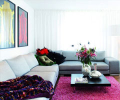 客厅装修:经典亮丽沙发完美组合