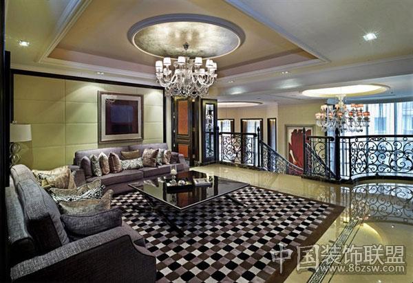 星河湾奢华古典豪宅古典客厅装修图片