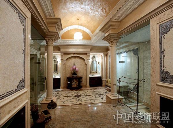 法式装修风格 富力公馆别墅欧式玄关装修图片