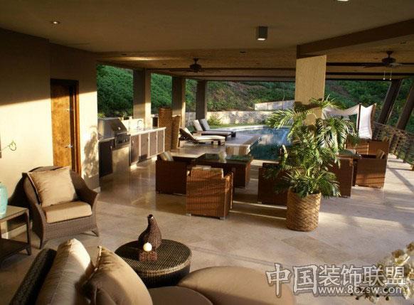 豪华休闲别墅依山傍水-欧式风格装修效果图-八六装饰