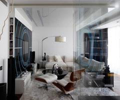 莫斯科时尚公寓 尽显黑白潮流经典