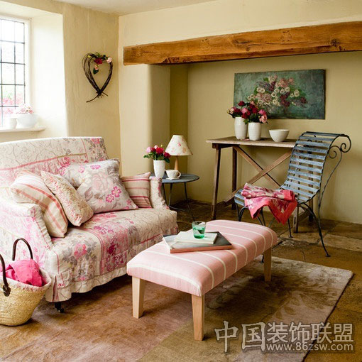 一个人的卧室 温馨舒适 田园风格装修效果图 八六装饰网装