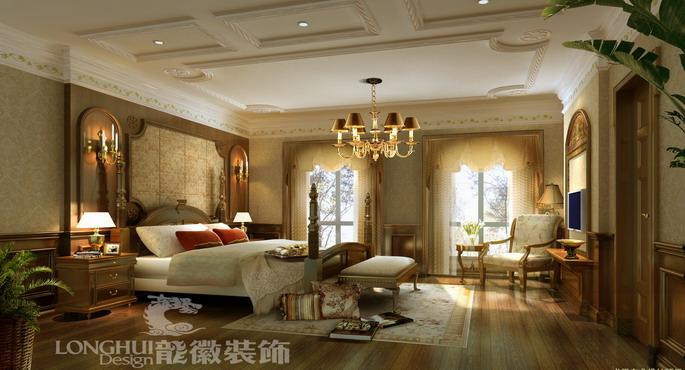 成都后花園別墅設計-臥室裝修效果圖-八六(中國)裝飾