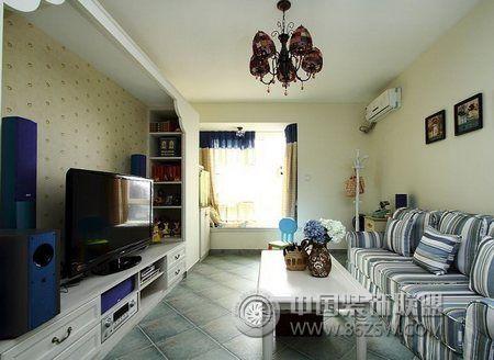 冷暖色调搭配 家居更舒适现代客厅装修图片