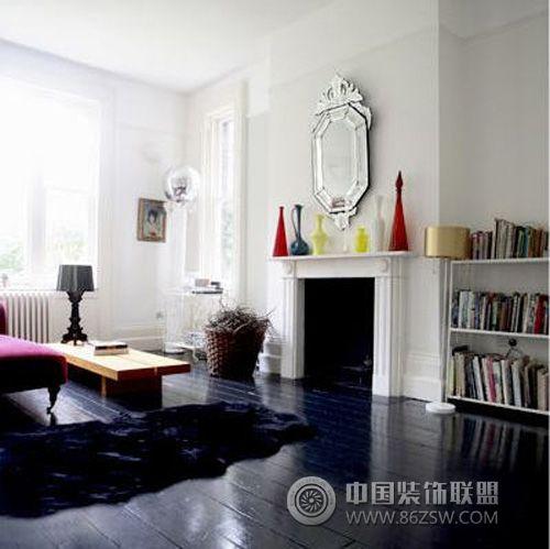 黑色地板装修效果图 100平米房屋装修效果图大全 卧室阳台