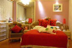 红色经典卧室婚房设计之现代时尚风格
