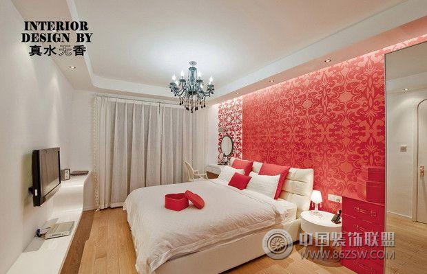 红色经典卧室婚房设计之现代时尚风格-卧室装修效果
