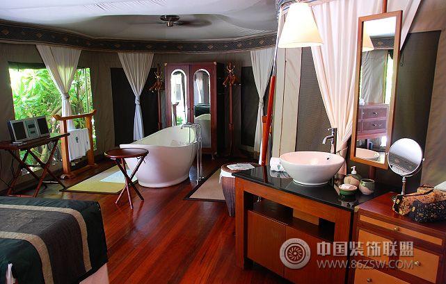 风景如画的别墅设计-卫生间装修图片