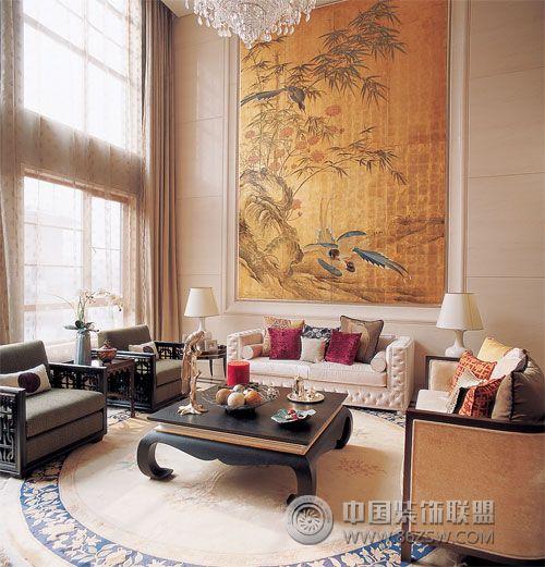 中式家居的淡雅与唯美中式客厅装修图片