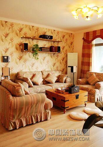 田园乡村混搭 客厅装修效果图 www.86zsw.com高清图片
