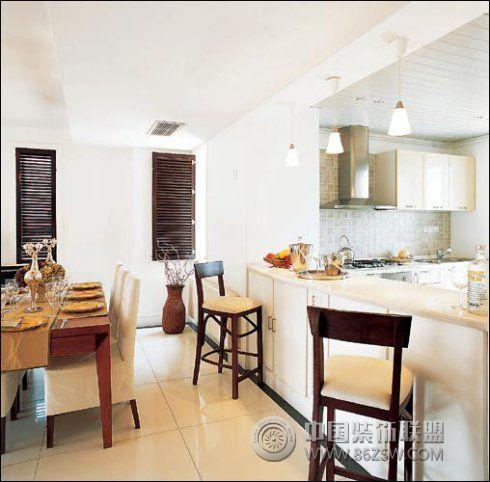 通风透光的复式公寓-厨房装修图片