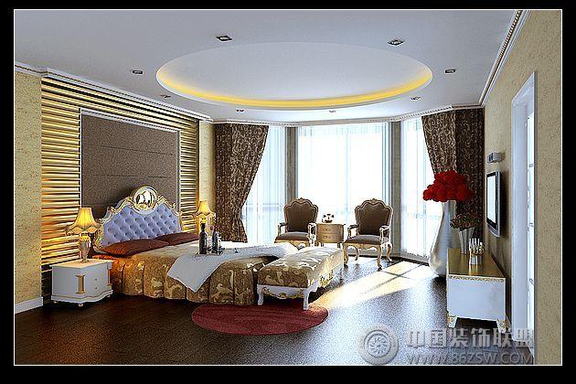 翰园欧式别墅设计风格-卧室装修效果图-八六(中国)(.
