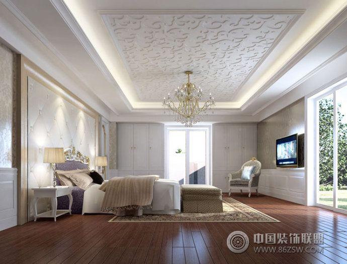 欧式气派简约风别墅设计欧式卧室装修图片