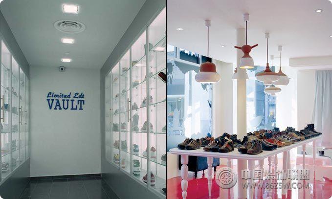 酷炫鞋店个性空间设计 单张展示 专卖店装修效果图 -酷炫鞋店个性空间