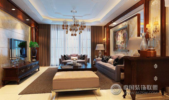 新式古典的绝佳案例-客厅装修图片