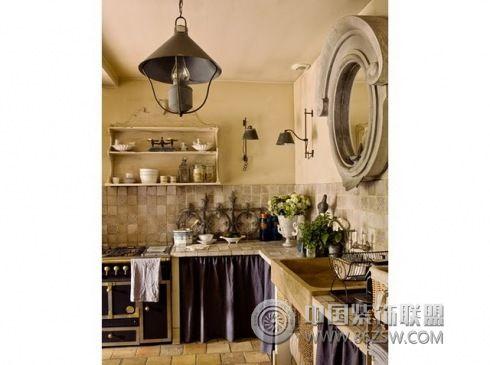 法国白色复古家居-厨房装修图片