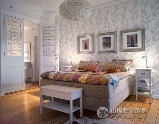 灰白简约家居设计-卧室装修效果图-八六装饰网装修