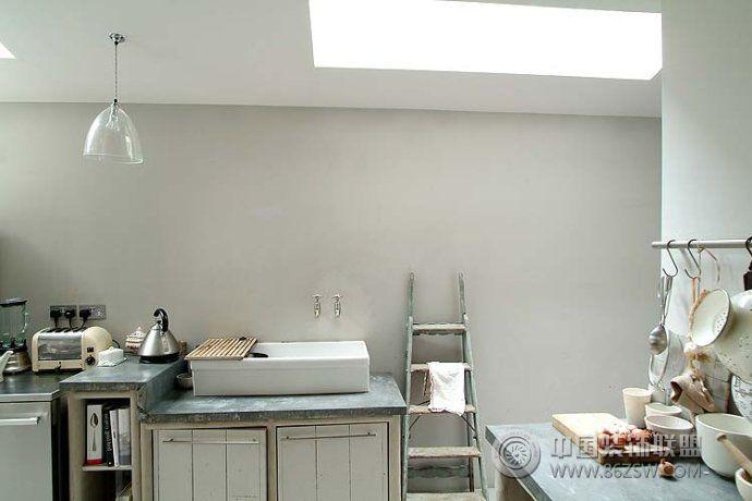 法国宫廷与乡村风格的混搭-厨房装修效果图-八六