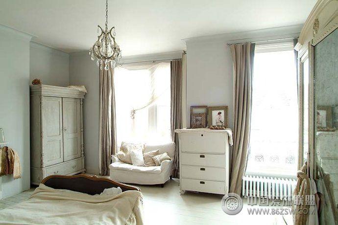 法国宫廷与乡村风格的混搭-卧室装修图片