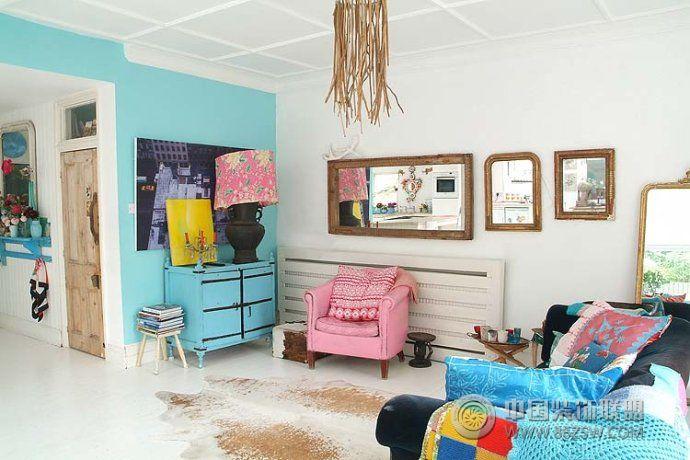 法式乡村浪漫之家 客厅装修效果图 www.86zsw.com高清图片