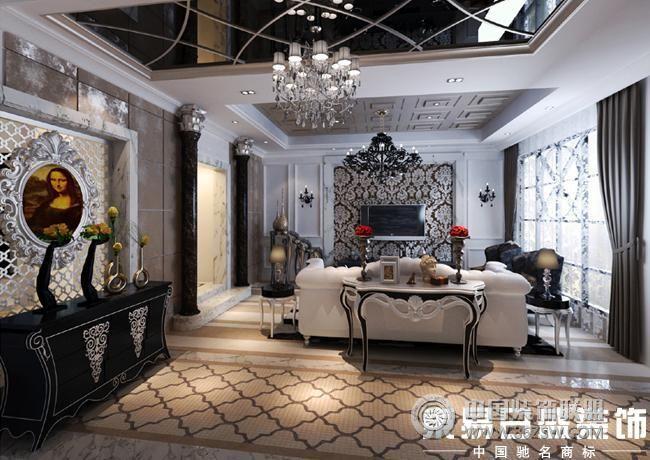 客厅艺术漆装修效果图