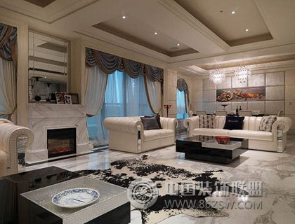 低调奢华欧式家居生活欧式客厅装修图片