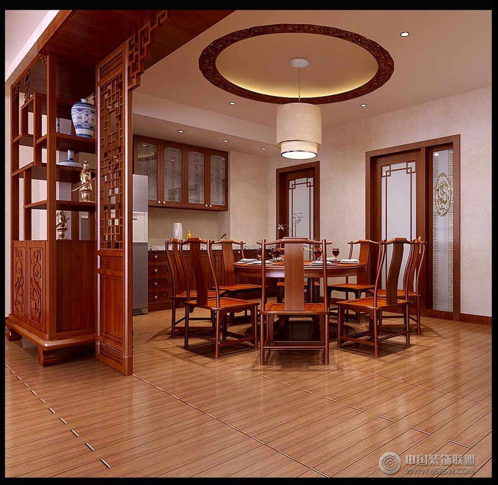 中式 古典 家装 风格 餐厅装修效果图 八六装饰网