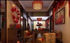 七夕魅力中国红 中式新古典婚房设计