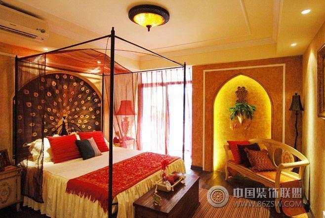 民族风摩洛哥样板房设计-卧室装修效果图-八六(中国)