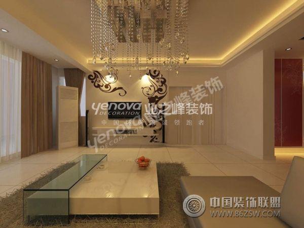 墙面壁纸和雕花玻璃,餐厅顶面选用白色石膏板仿木条,局部使用玻璃