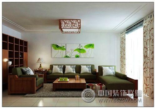 简中家装实拍中式客厅装修图片