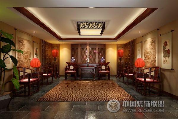 四合院整套大图展示_中式大户型装修效果图_八六(中国